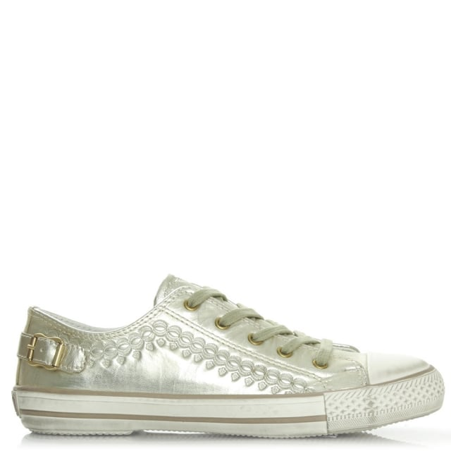 Virgon Gold Metallic Womens Trainer