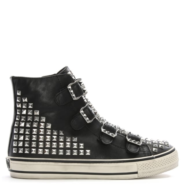 virtu-black-leather-studded-high-top-trainers