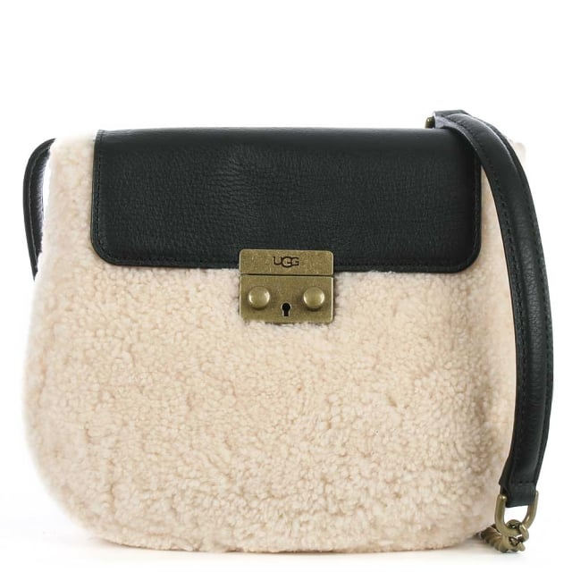 Vivienne Black Leather Sheepskin Crossbody Bag