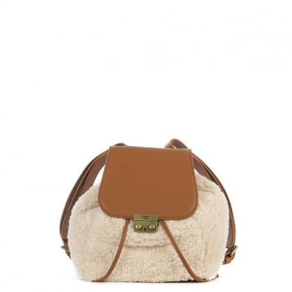 Vivienne Tan Leather Sheepskin Backpack