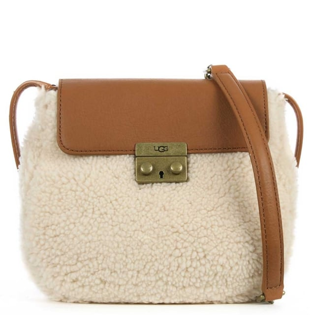 Vivienne Tan Leather Sheepskin Crossbody Bag