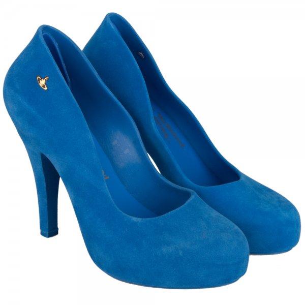 Vivienne Westwood Blue Skyscraper Shoes