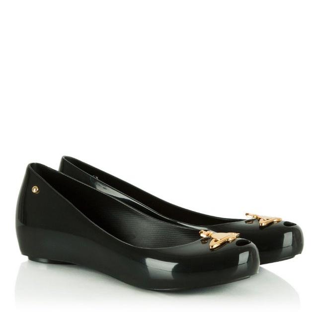 where can i buy elegant shoes top fashion Vivienne Westwood Ultragirl Orb Black Peep Toe Flat