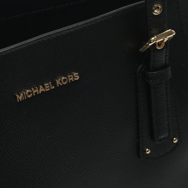 df9f3bc1991bf3 Michael Kors Voyager East West Black Saffiano Leather Tote Bag