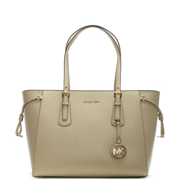 317c04dc3693 Michael Kors Voyager Oat Saffiano Leather Tote Bag