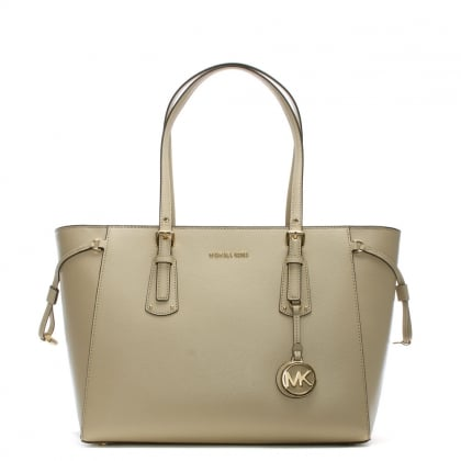 Voyager Oat Saffiano Leather Tote Bag