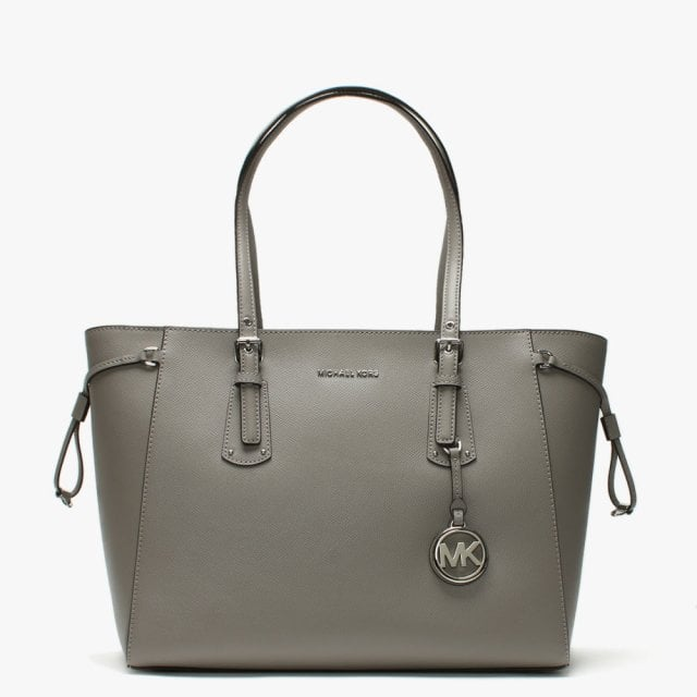 4e472b16f074 Michael Kors Voyager Pearl Grey Saffiano Leather Tote Bag