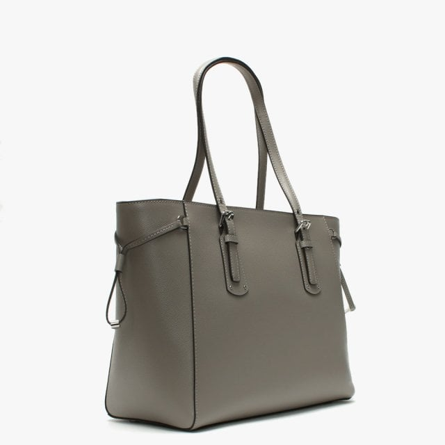 c1397595b233 Michael Kors Voyager Pearl Grey Saffiano Leather Tote Bag