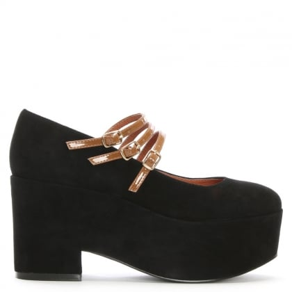 Wakefield Black Suede Platform Shoes