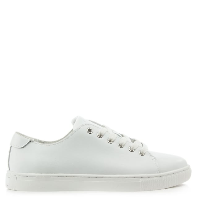 Waverly White Leather Lace Up Trainer
