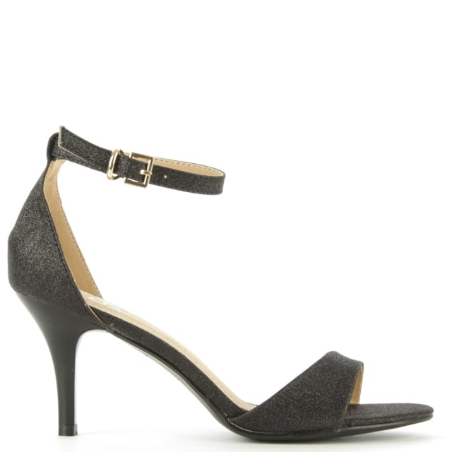 Waverton Black Glitz One Strap Sandal