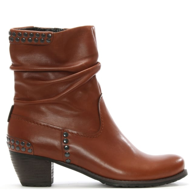 Westbourne Tan Leather Ankle Boot