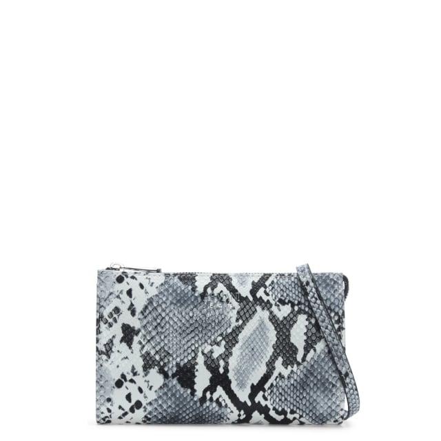 Armani Jeans White   Black Reptile Cross-Body Bag e9bbf9070