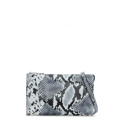 Armani Jeans White & Black Reptile Cross-Body Bag