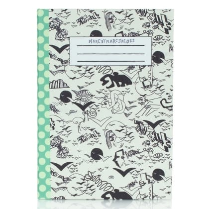 White Doodle Dot Tablet Notebook Case