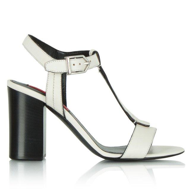 8576e9afe87e White Leather HB Sianna Women  039 s T-Bar Heeled Sandal