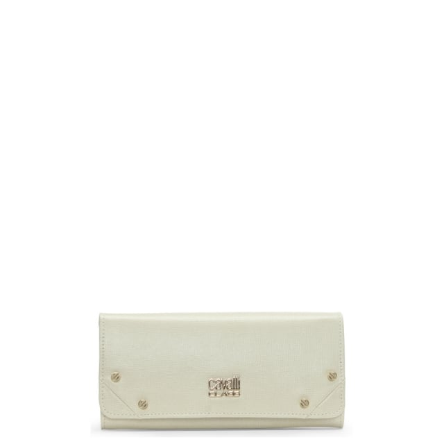 White Leather Textured Purse