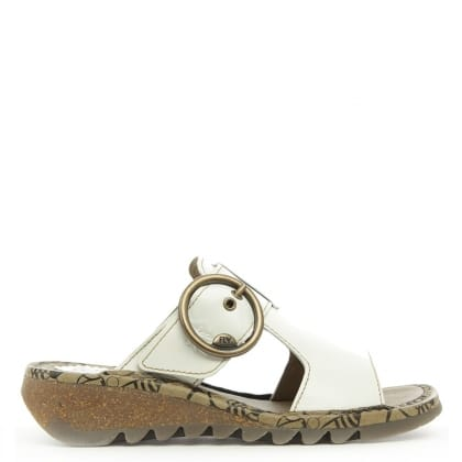 White Leather Tute Sandal