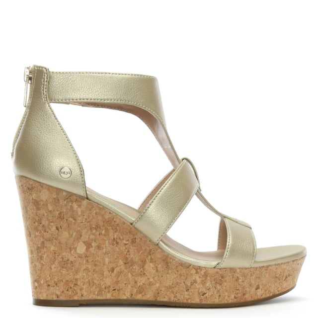 Whitney Gold Metallic Wedge Sandals