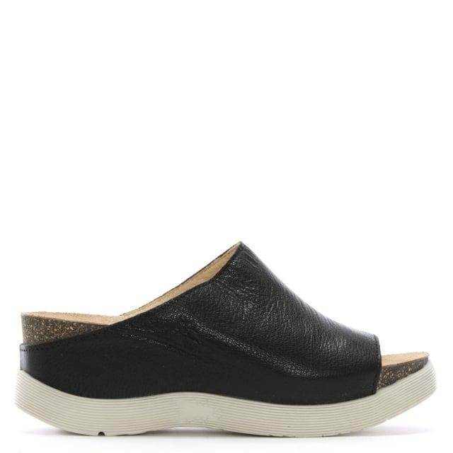 Wigg-Black-Leather-Wedge-Mules