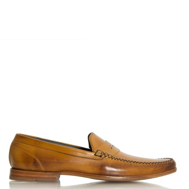 William Tan Suede Slip-On Moccasin
