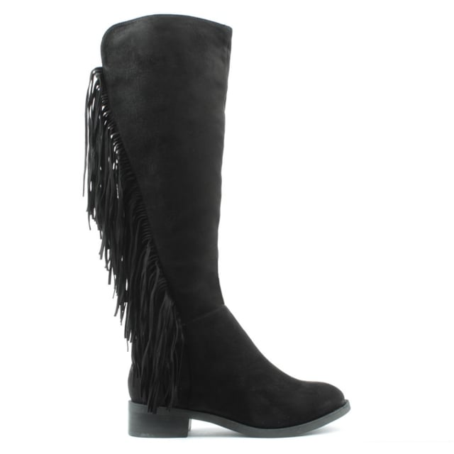 Willow Park Black Fringed Knee High Boot