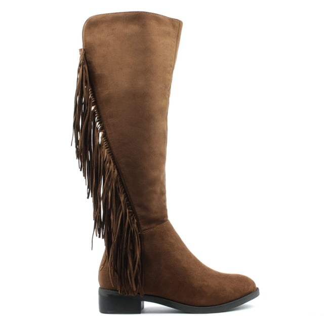 Willow Park Tan Fringed Knee High Boot
