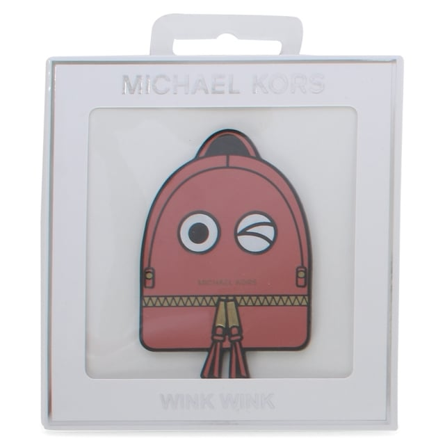 Wink Wink Red Leather Bag Sticker