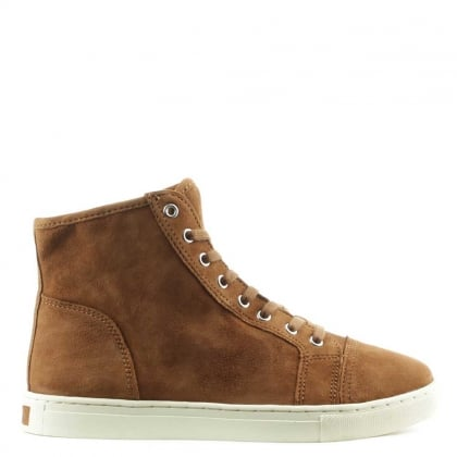 Lauren by Ralph Lauren Winnefred New Snuff Suede High Top Trainer