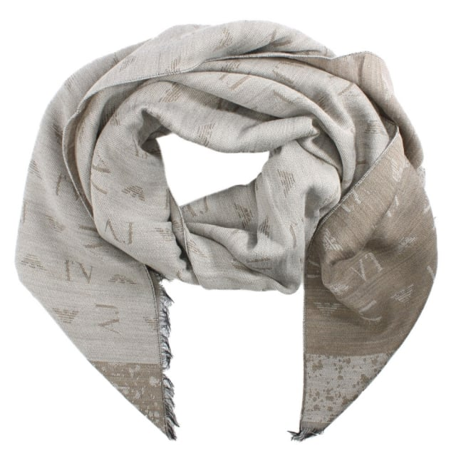 Winter Beige Wool Mix Scarf