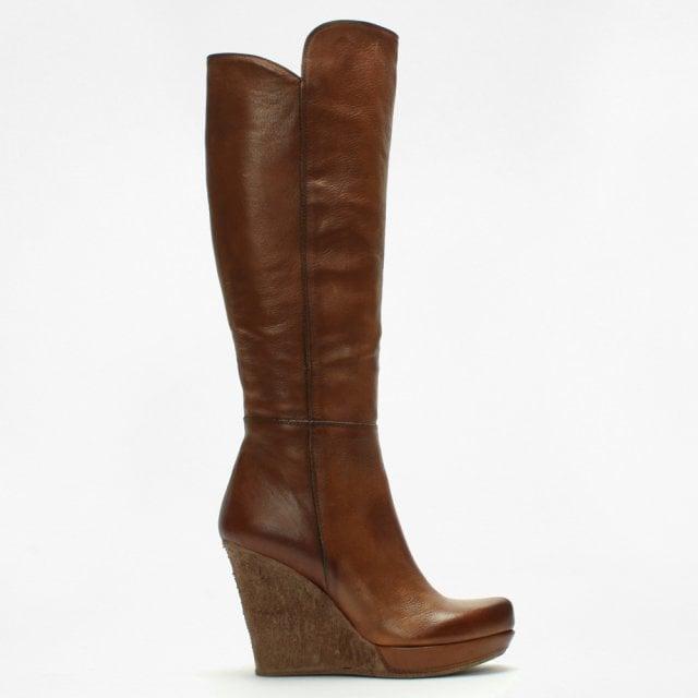 d70e70c3b8e Daniel Wisdom Tan Leather Knee High Boots