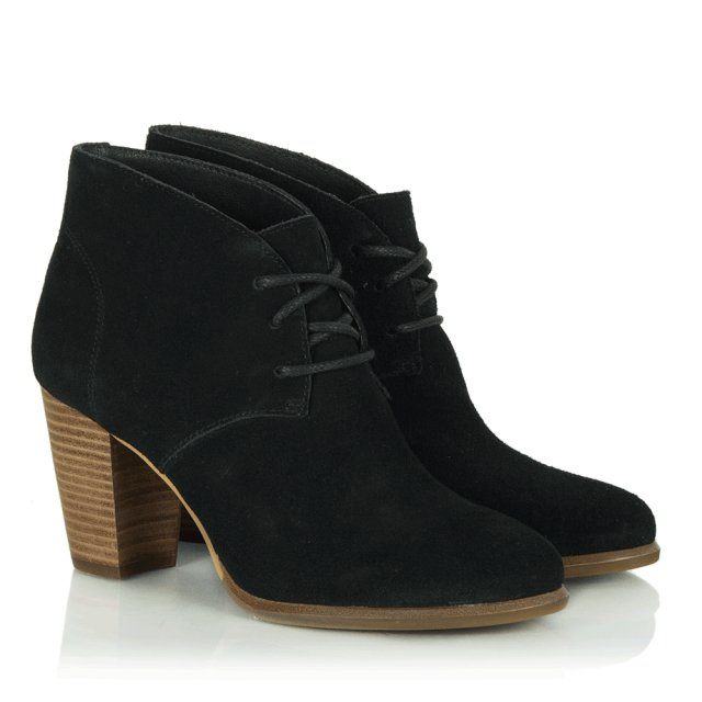 Women's Black Suede Mackie Ankle Boot