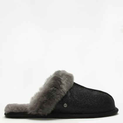 8d5700ff909 Women s Scuffette II Sparkle Black Slippers