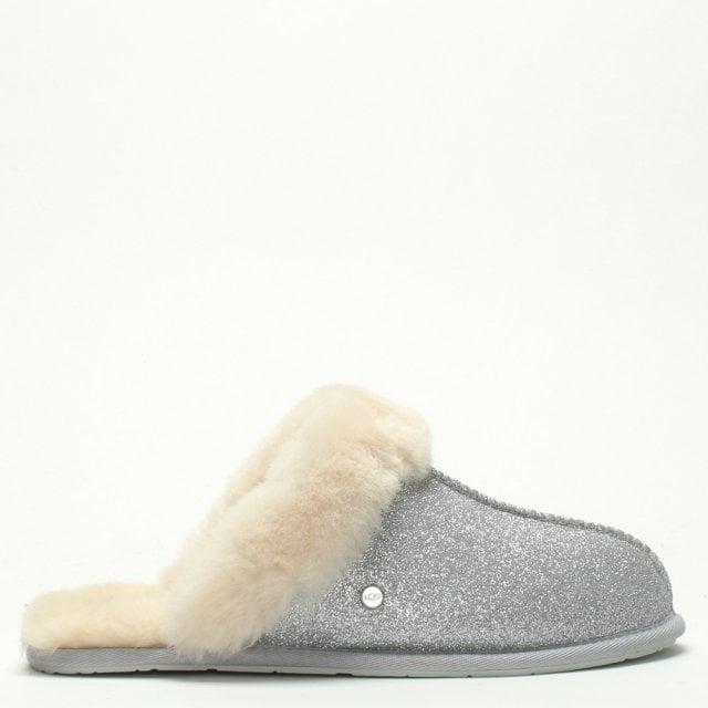 2e3b5cf4e0e Women's Scuffette II Sparkle Silver Slippers