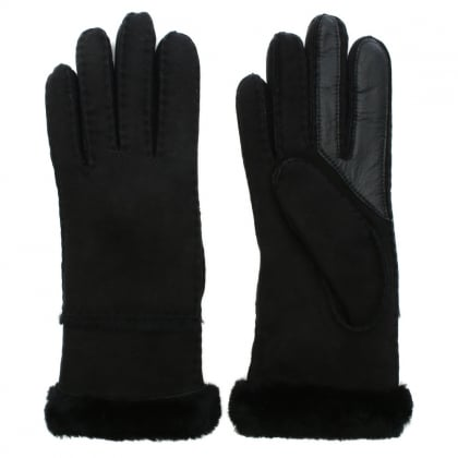 Women's Exposed Slim Tech Black Gloves