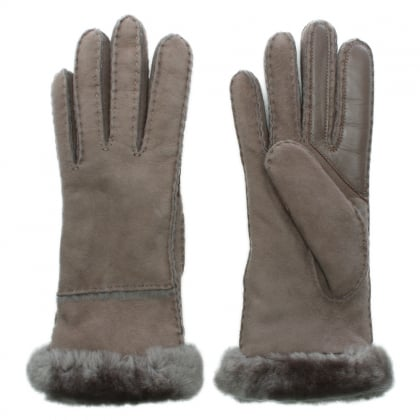 Women's Exposed Slim Tech Stormy Grey Gloves