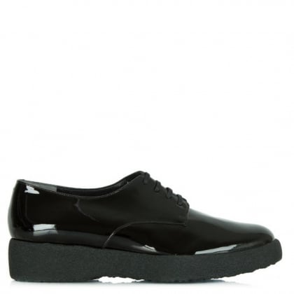 Women's Feydo Black Patent Lace Up Shoe