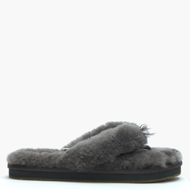 d65f921c595 Women's Fluff II Grey Flip Flop Slippers