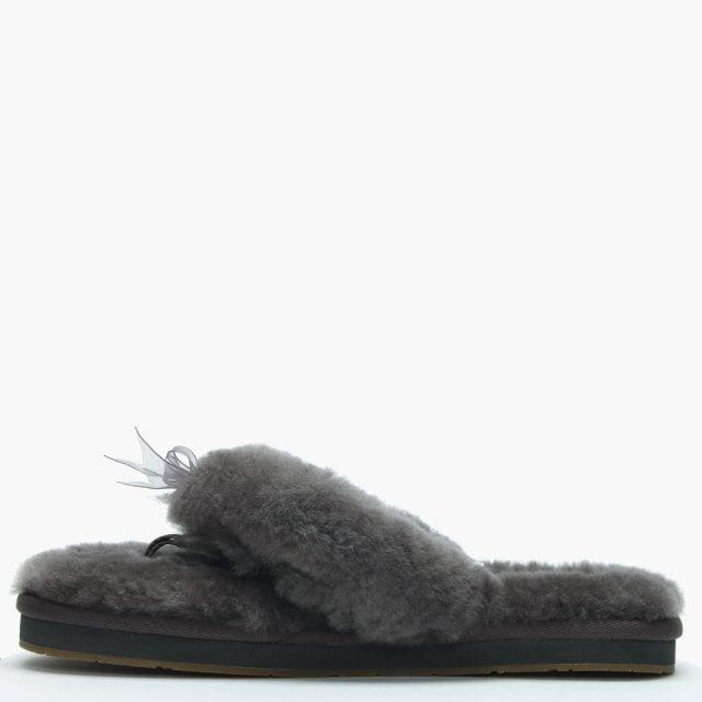 2fada7cd6ee Women's Fluff II Grey Flip Flop Slippers