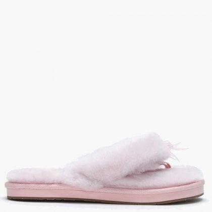 b393f57e2d18 Women s Fluff II Seashell Pink Flip Flop Slippers