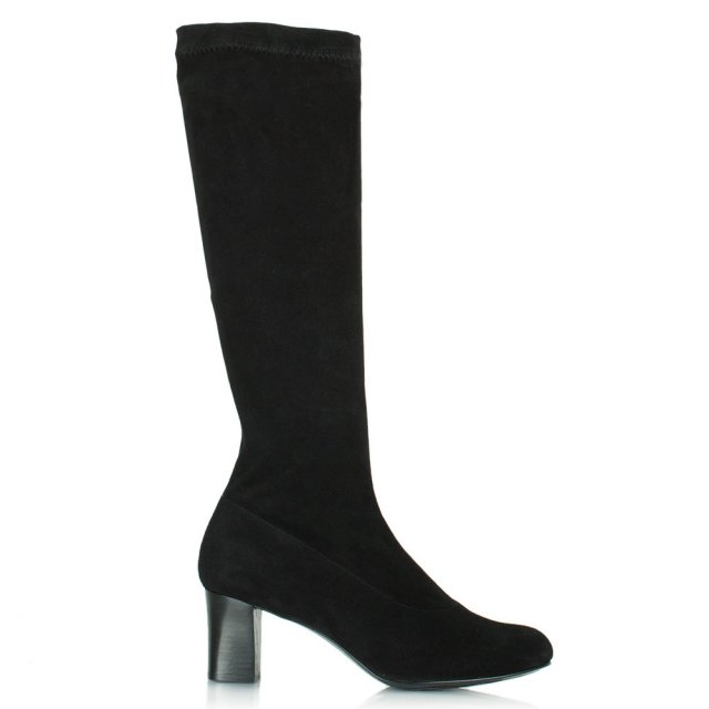 Women's Passac Black Suede Knee High Boot