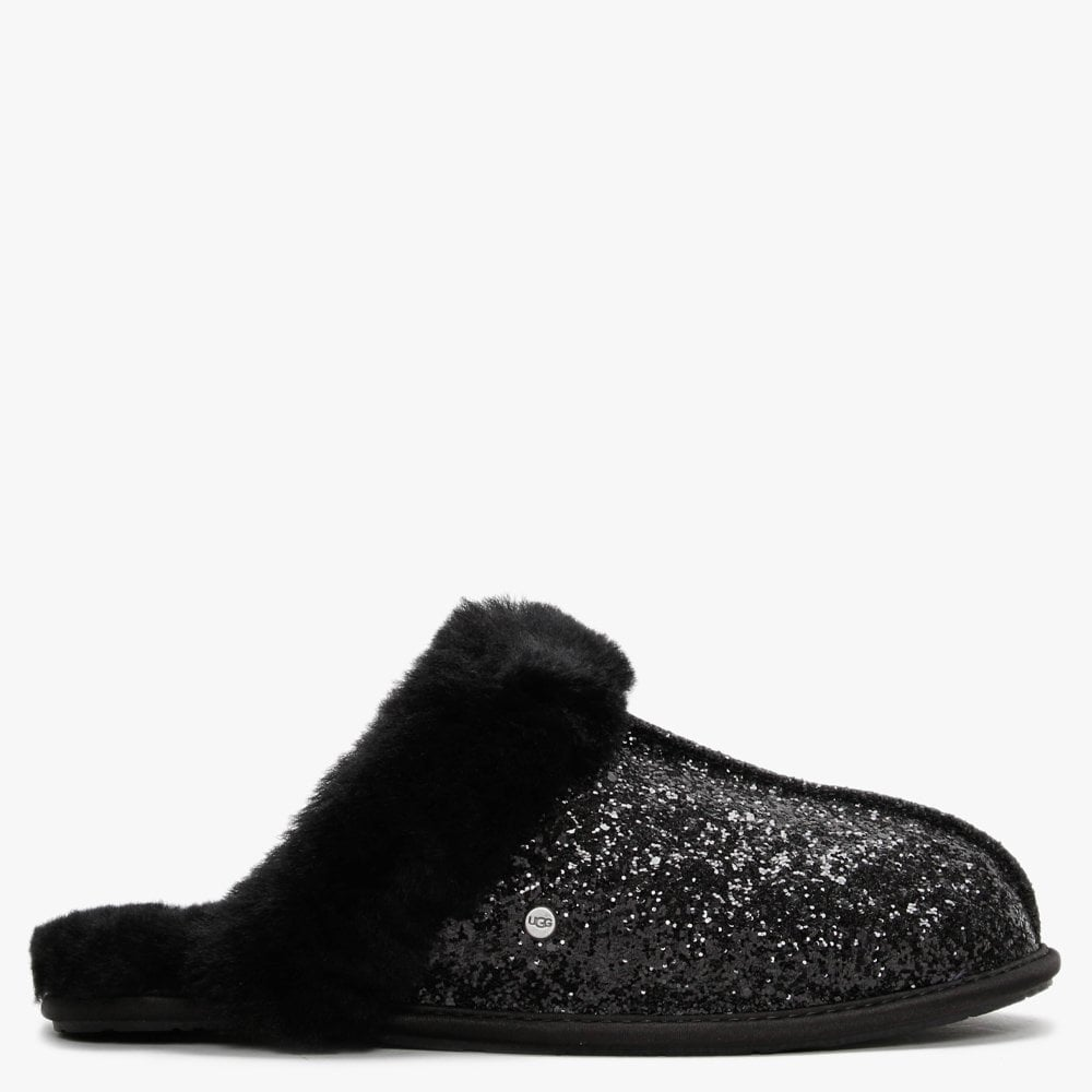 Scuffette II Cosmos Black Glitter Slippers