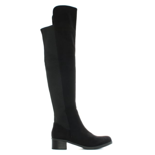 Wyedale Black Over The Knee Boot