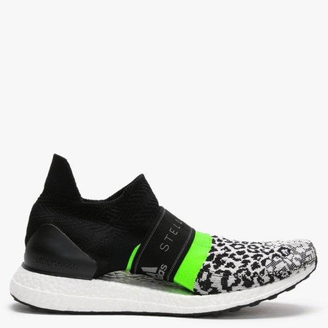 outlet store 0616c 14528 x adidas UltraBOOST X 3.D. S. Black & Solar Green Trainers