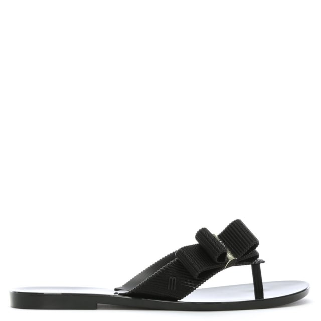 x Jason Wu Girl Black Flip Flops