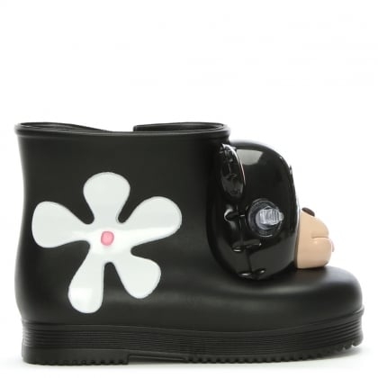 x Jeremy Scott Kid's Black Mini Monkey Booties