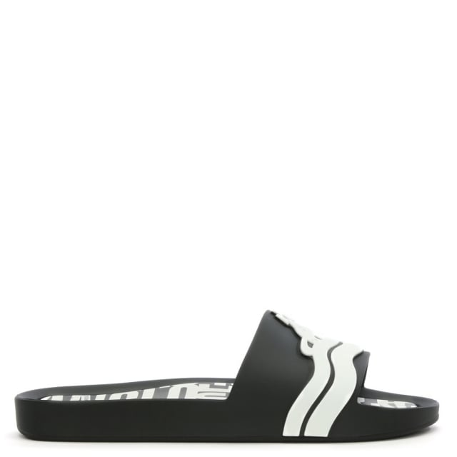 x Melissa Black Contrast Beach Sliders