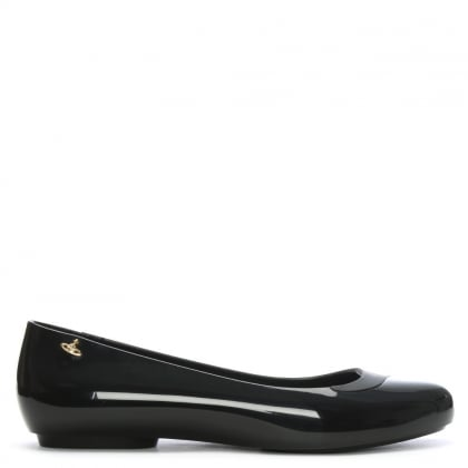 x Melissa Charlie Black Two Tone Ballet Flats