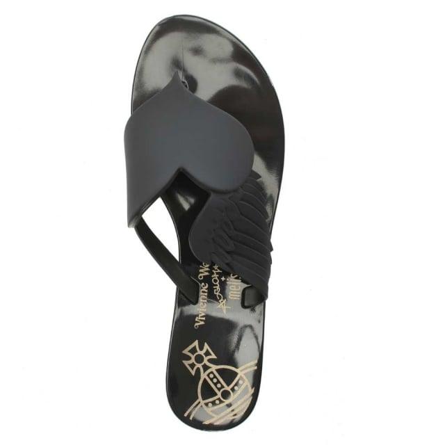 3ca264e2b Vivienne Westwood x Melissa Harmonic Cherub Black Toe Post Flip Flop