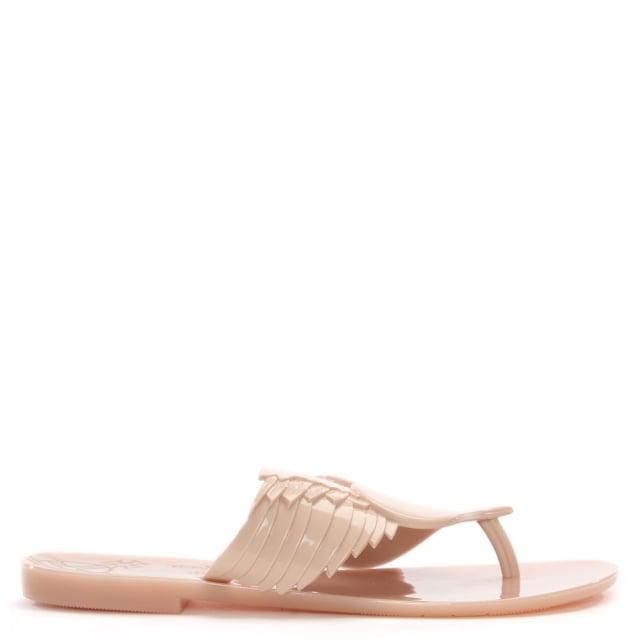 a4211c25b Vivienne Westwood x Melissa Harmonic Cherub Nude Toe Post Flip Flops